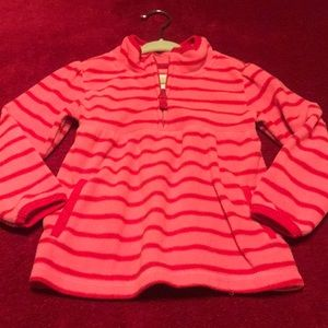 Old Navy Pink/Red Fleece Pullover 3T